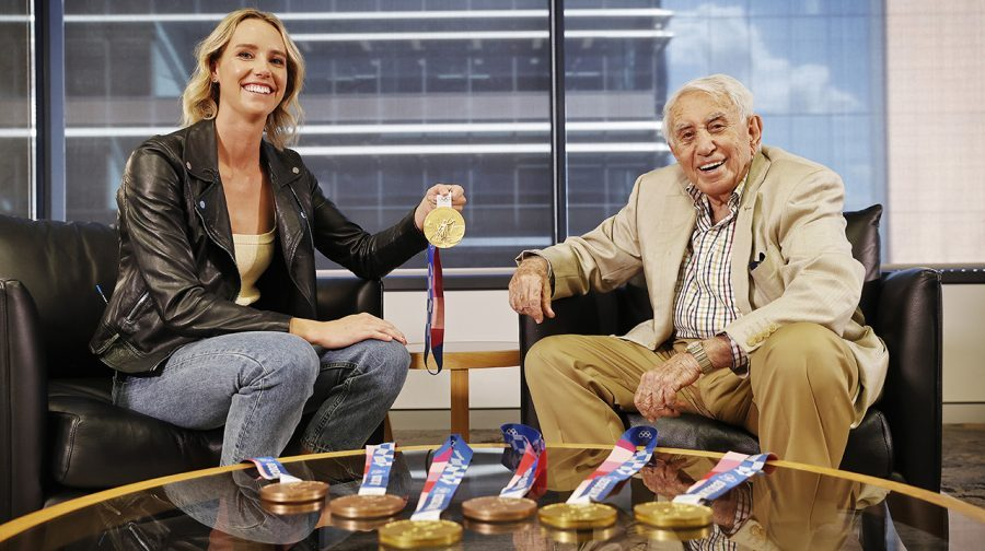 Emma McKeon With Harry Triguboff Picture: Sam Ruttyn